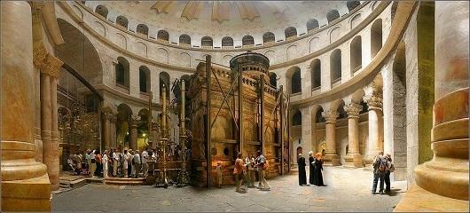 Родонта центрального храма, в центре которой находится Кувуклия.