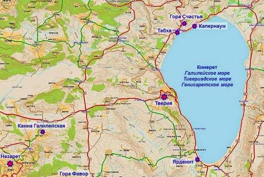 Карта Кинерет