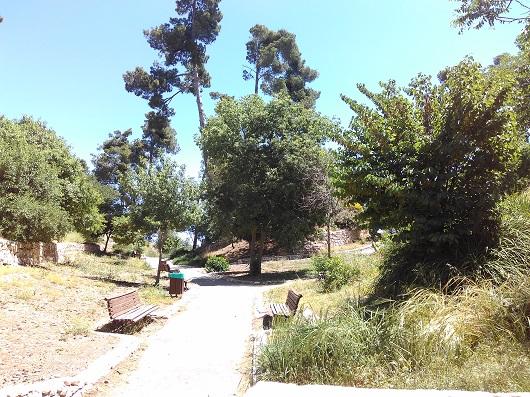 Парк на месте руин крепости Сафет (Мецуда)