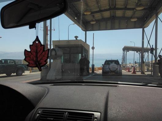 Контрольно-пропускной пункт на везде в район Мертвого моря