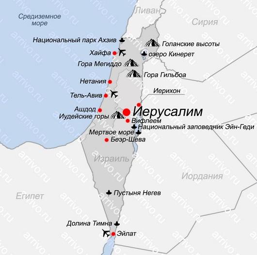 Нетания на карте Израиля