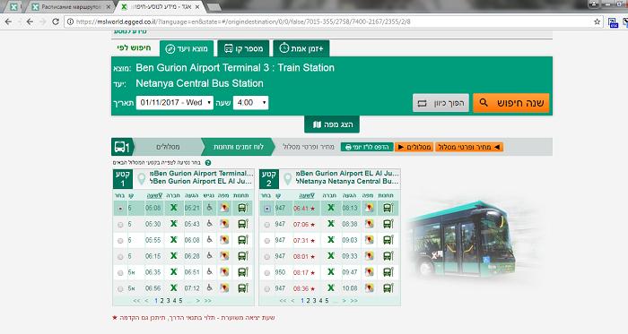 Расписание автобусов 4