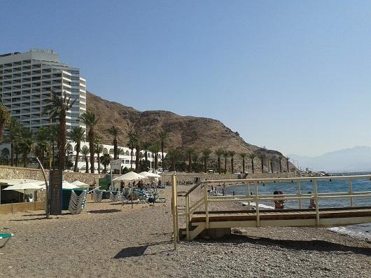 Пляж отеля Принцесса (Несиха) -  самый южный пляж Израиля