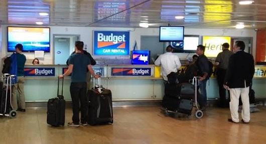 Офисы прокатных компаний находятся на втором этаже аэропорта им. Бен Гурион