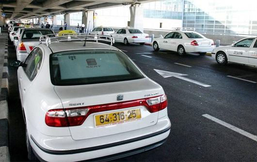 Стоянка такси в  терминале № 3 аэропорта им. Бен Гуриона
